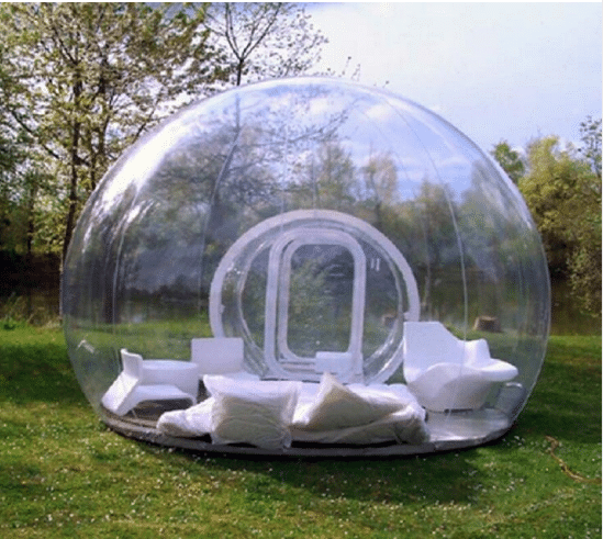 Прозрачная палатка-пузырь