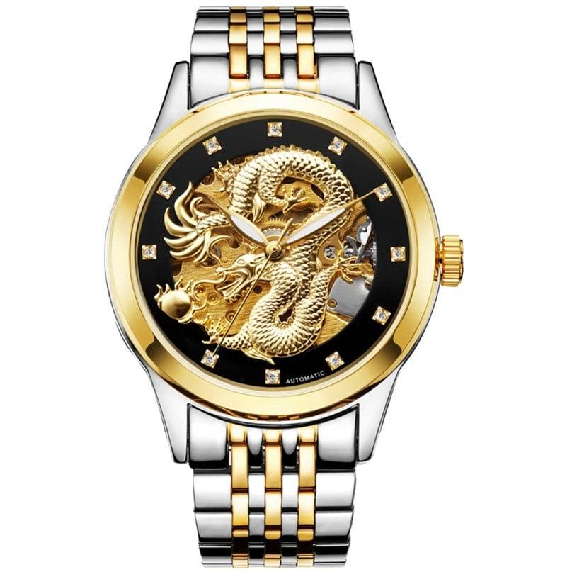 Роскошные часы с драконом на Аликспресс