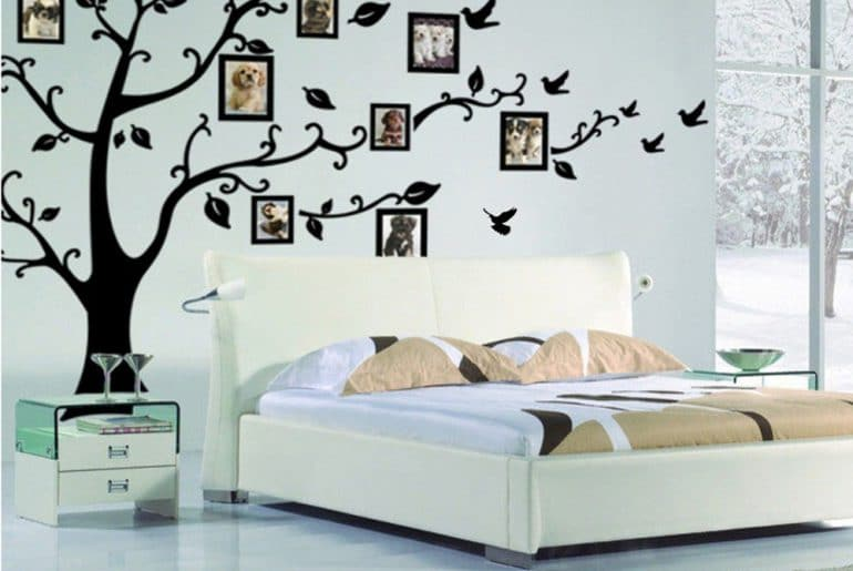 Наклейки на стену с Алиэкспресс: 10 красивых элементов декора от детской комнаты до ванной