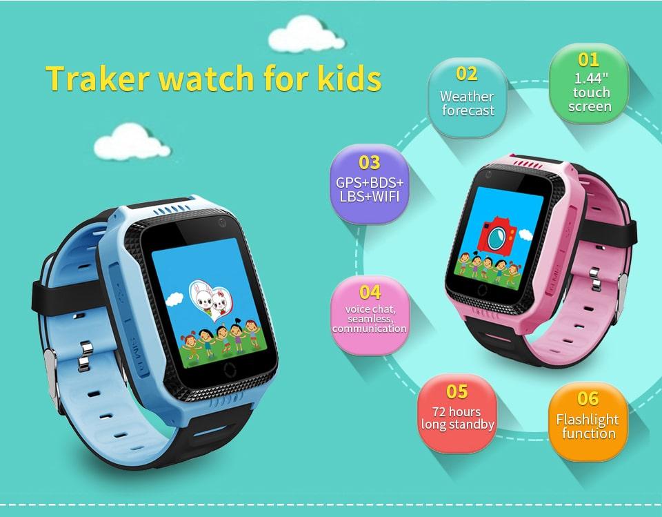 Детские часы с GPS-трекером на Алиэкспресс