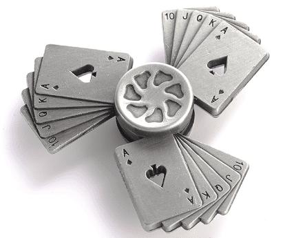 Купить Металлический спиннер в форме колод карт на Алиэкспресс