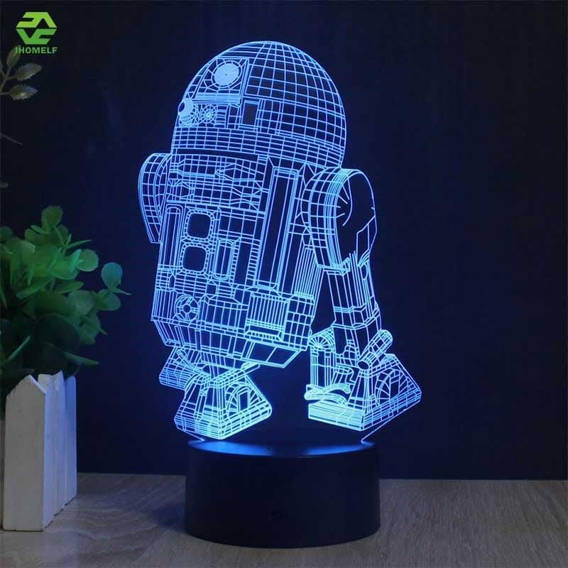 Светильник R2D2 на Аликспресс
