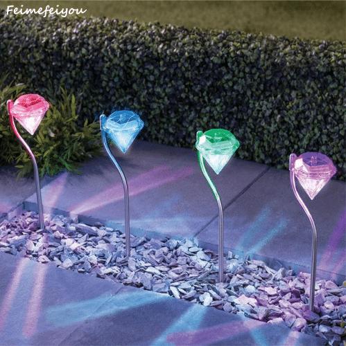Уличные фонарики в виде алмазов с Алиэкспресс