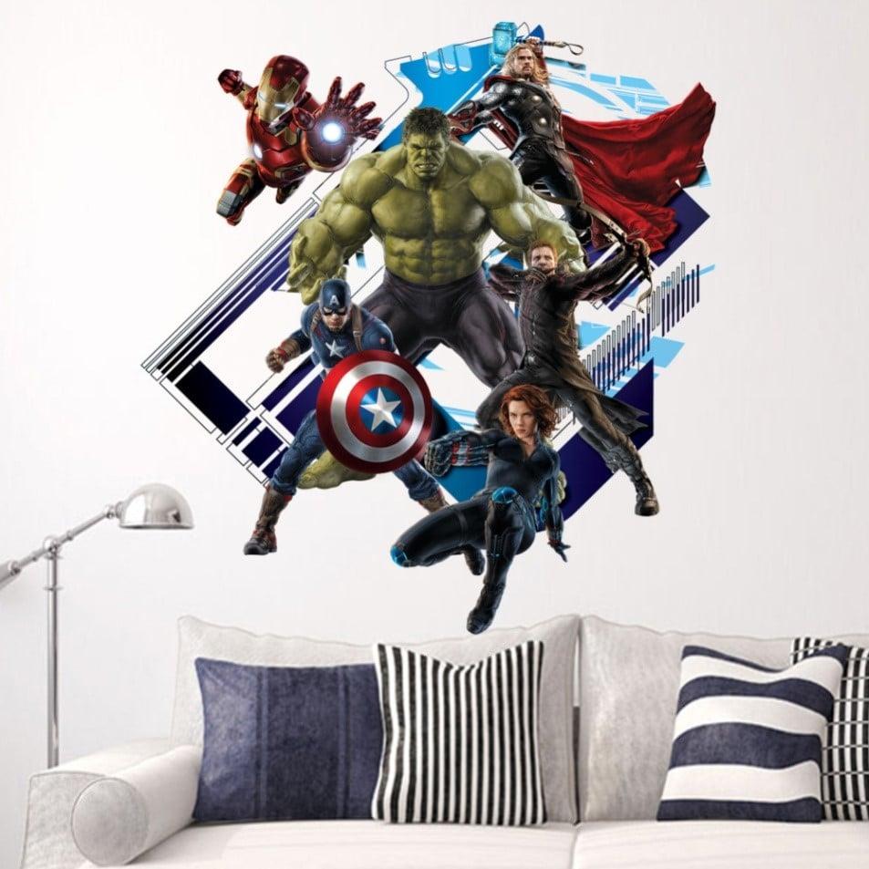 Наклейки с cупергероями Marvel купить на Алиэкспресс