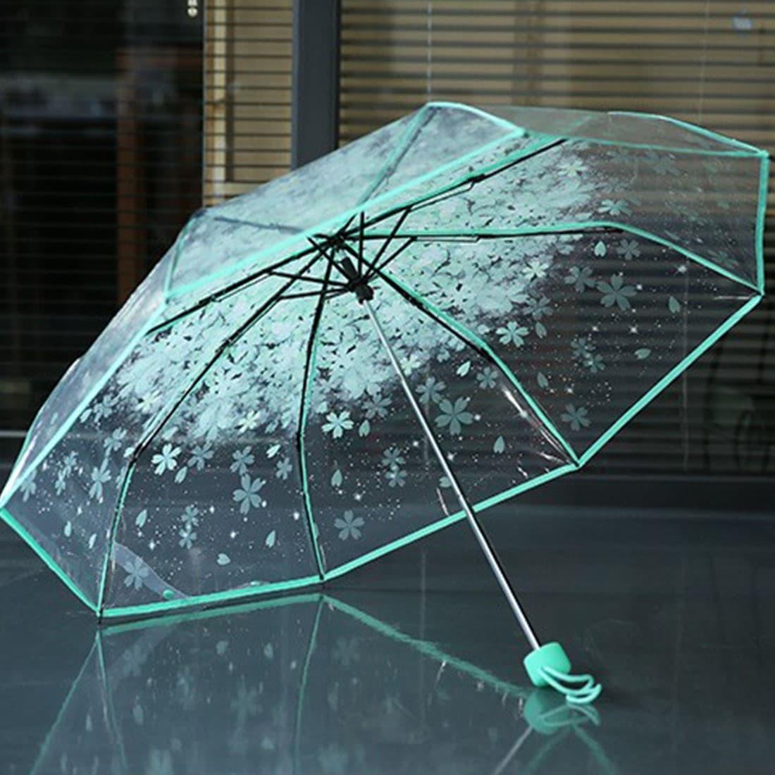 Прозрачный зонт с цветами с Алиэкспресс