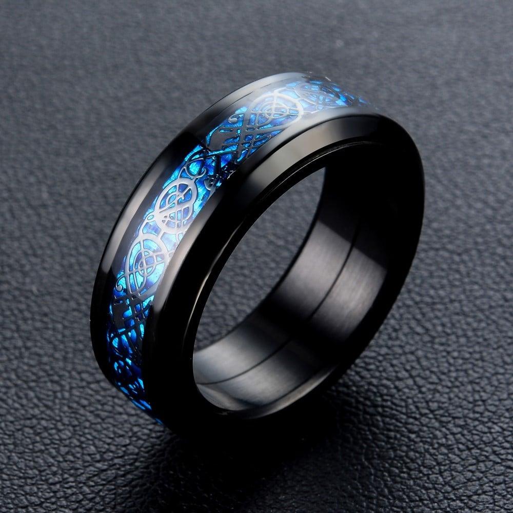 Современное кольцо с узором купить на Алиэкспресс