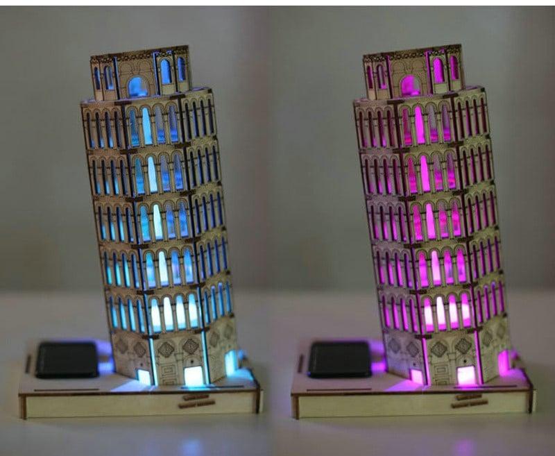 Деревянная лампа-3D головоломка на Аликспресс