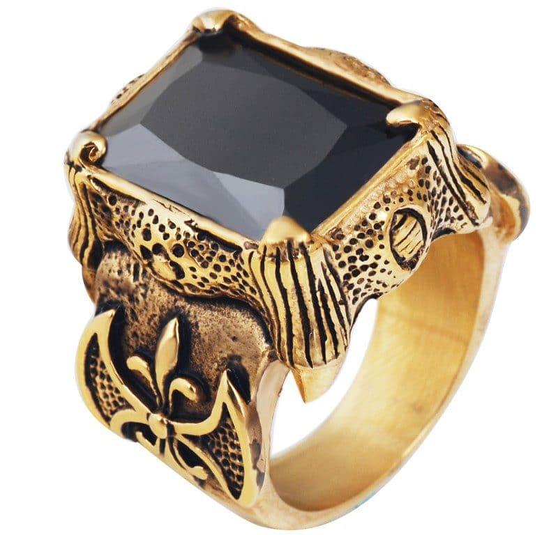 Готическое кольцо купить на Алиэкспресс