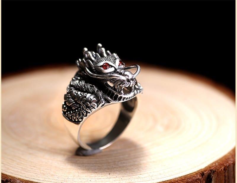 Перстень с драконом купить на Алиэкспресс