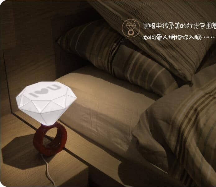 Светильник в виде кольца с бриллиантом на Аликспресс
