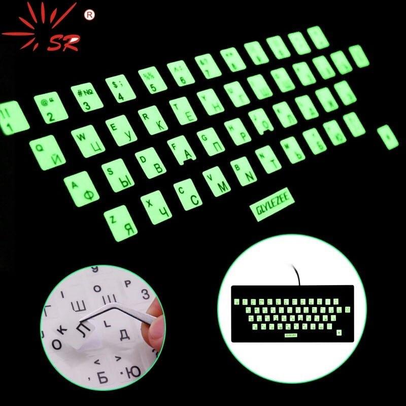 Светящаяся наклейка на клавиатуру с Алиэкспресс