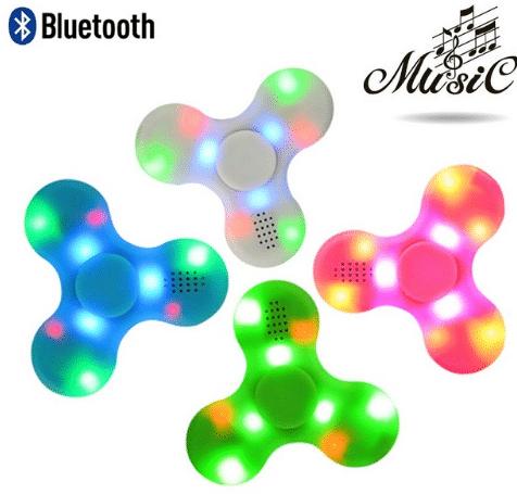 Купить Музыкальный светящийся спиннер c Bluetooth на Алиэкспресс