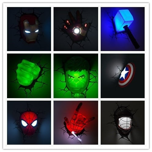 Светильник с супергероями на Аликспресс