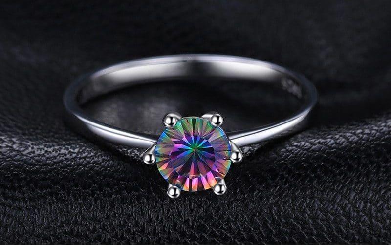 Серебряное кольцо с топазом на Алиэкспресс