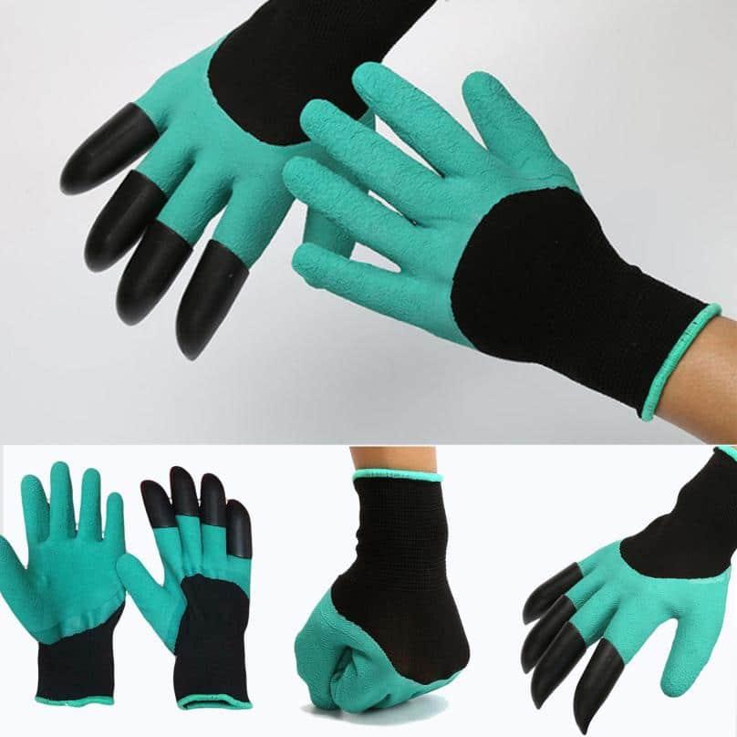 Садовые перчатки с когтями с Алиэкспресс