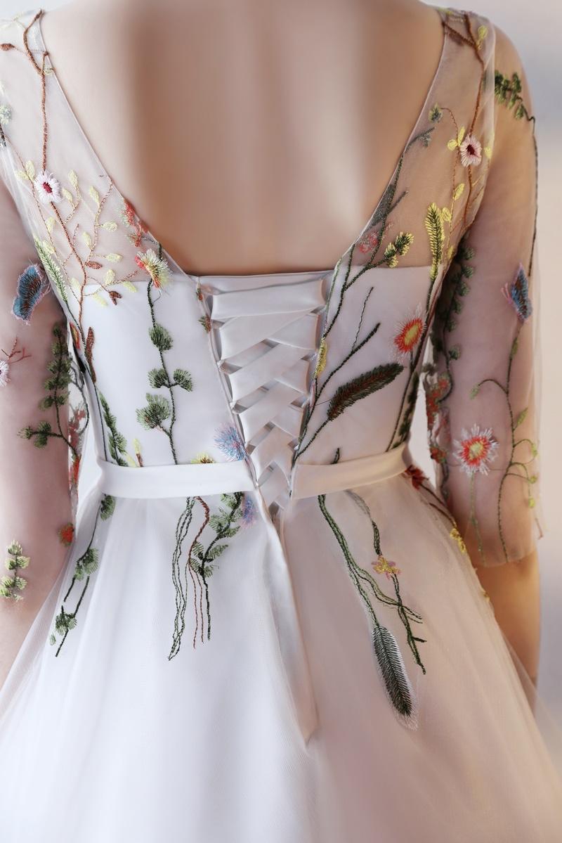 Платье с вышивкой на Алиэкспресс