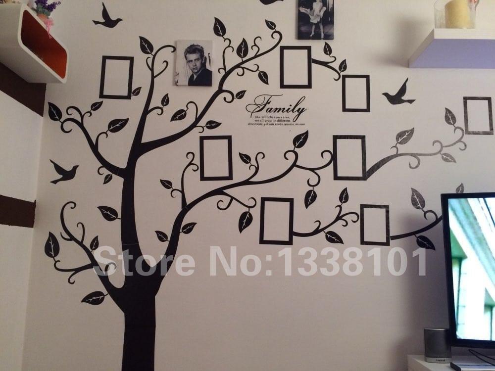 Наклейка «Дерево» с фоторамками купить на Алиэкспресс