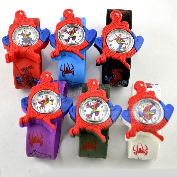 Часы для мальчиков с Человеком Пауком на Алиэкспресс