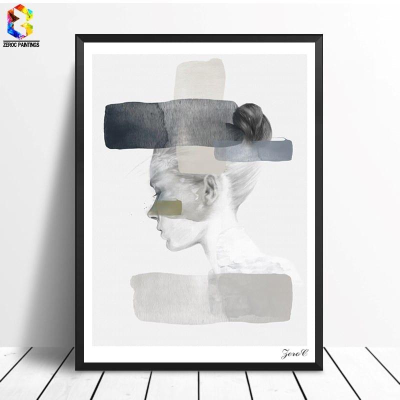 Картина «Портрет девушки» купить на Алиэкспресс