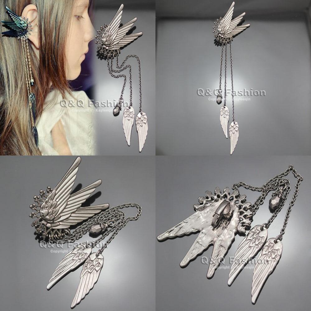 Серьги - крылья ангела купить на Алиэкспресс