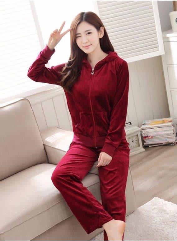 Бархатная пижама купить на Алиэкспресс