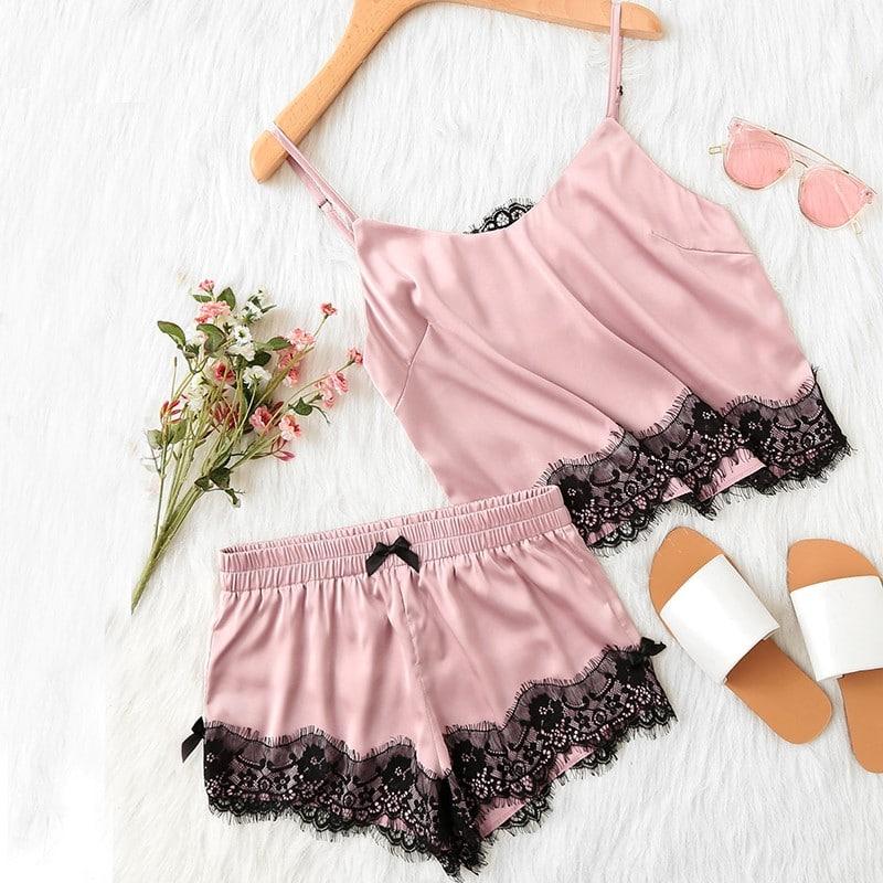 Кружевная пижама купить на Алиэкспресс