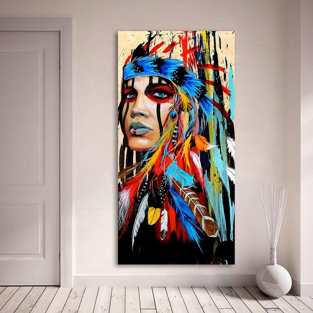 Картина «Женщина-индианка» купить на Алиэкспресс