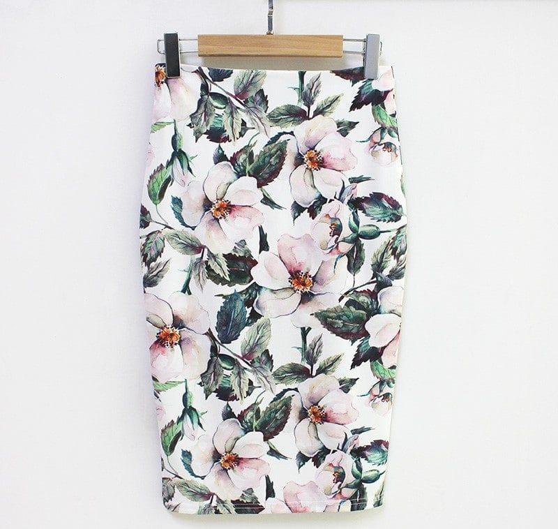 Цветочная юбка-карандаш купить на Алиэкспресс