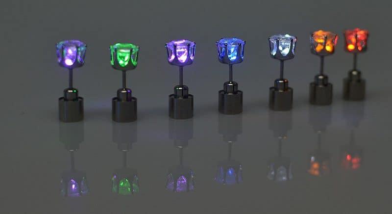 Светящиеся серьги - гвоздики купить на Алиэкспресс
