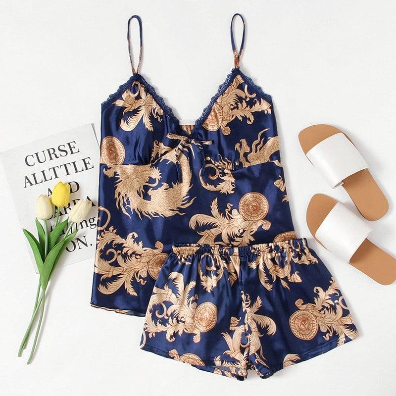 Красивая пижама из полиэстера купить на Алиэкспресс
