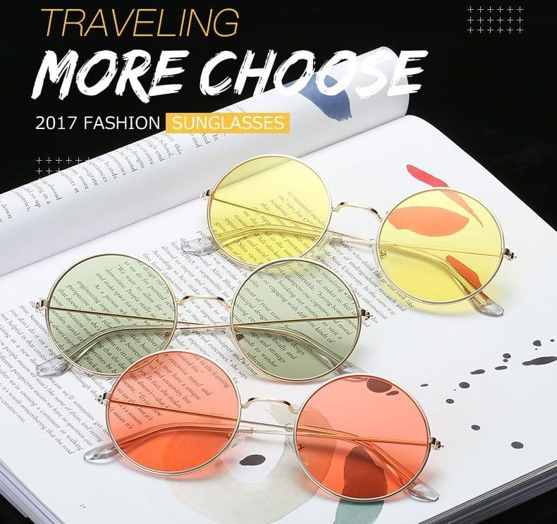 Круглые солнцезащитные очки купить на Алиэкспресс