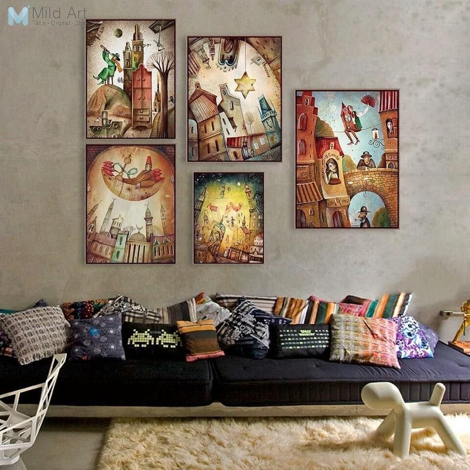 Сюрреалистическая картина купить на Алиэкспресс