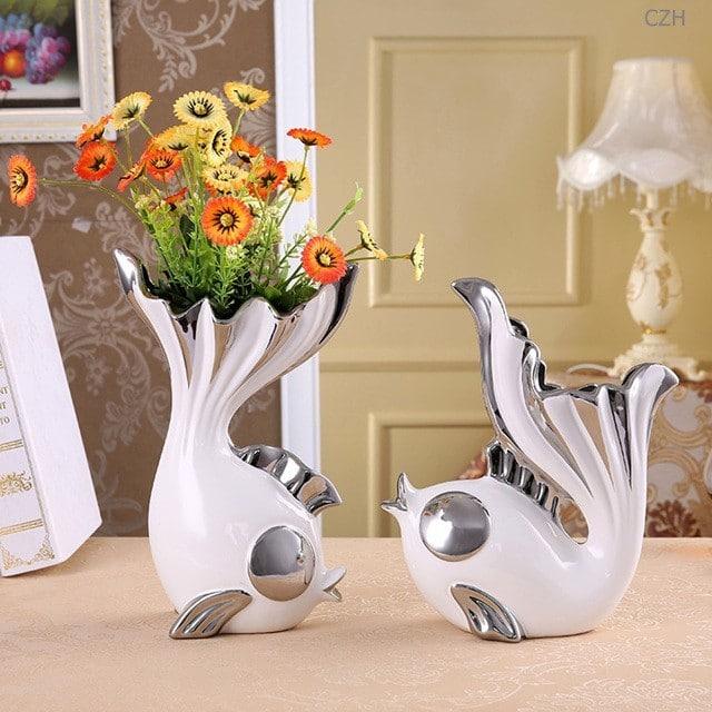 Комплект из двух ваз в виде рыбок купить на Алиэкспресс