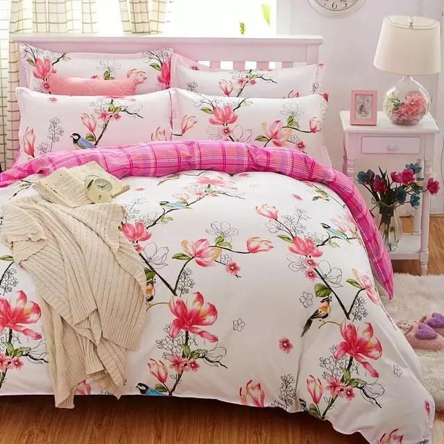 Постельное белье с цветами купить на Алиэкспресс