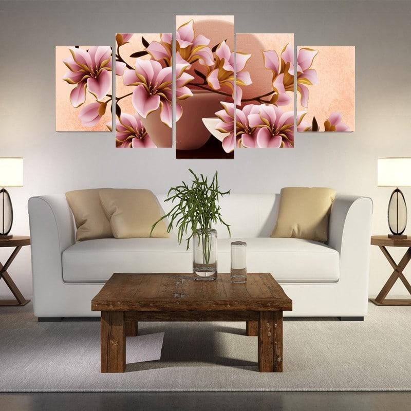 Модульная картина «Цветы» купить на Алиэкспресс
