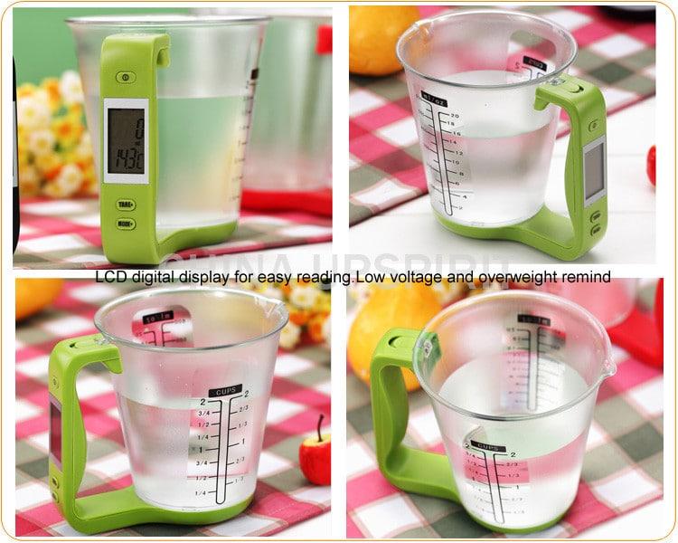 Мерный стакан-весы с электронным дисплеем купить на Алиэкспресс