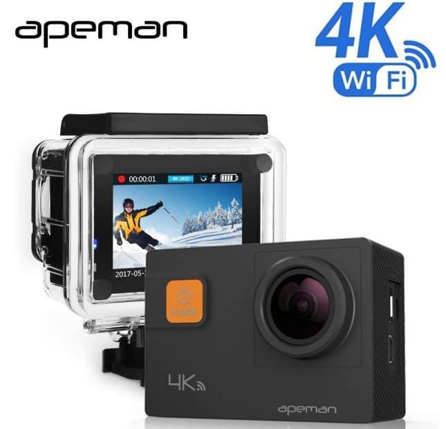 Популярная экшн камера с 4K и хорошей комплектацией купить на Алиэкспресс
