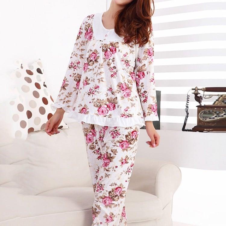 Цветочная пижама купить на Алиэкспресс