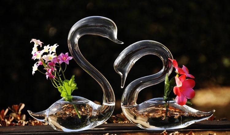 Две вазы в виде лебедей купить на Алиэкспресс