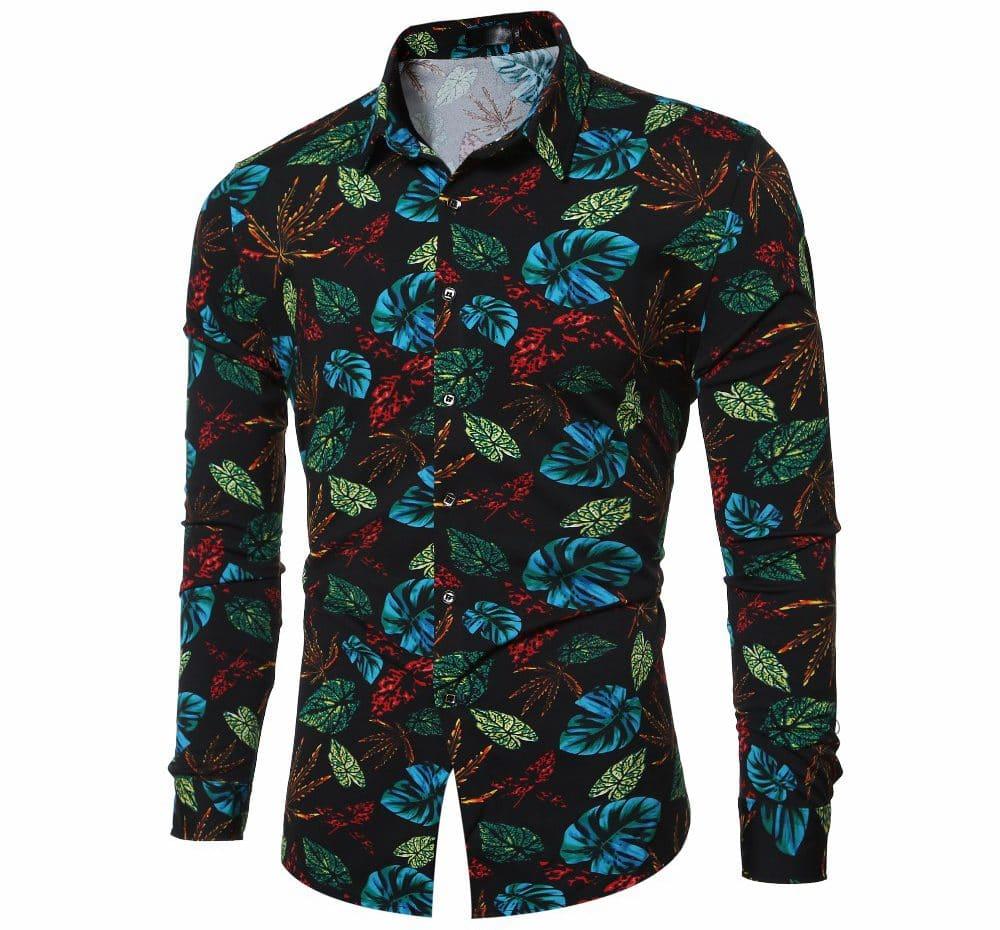 Рубашка с цветочным принтом купить на Алиэкспресс