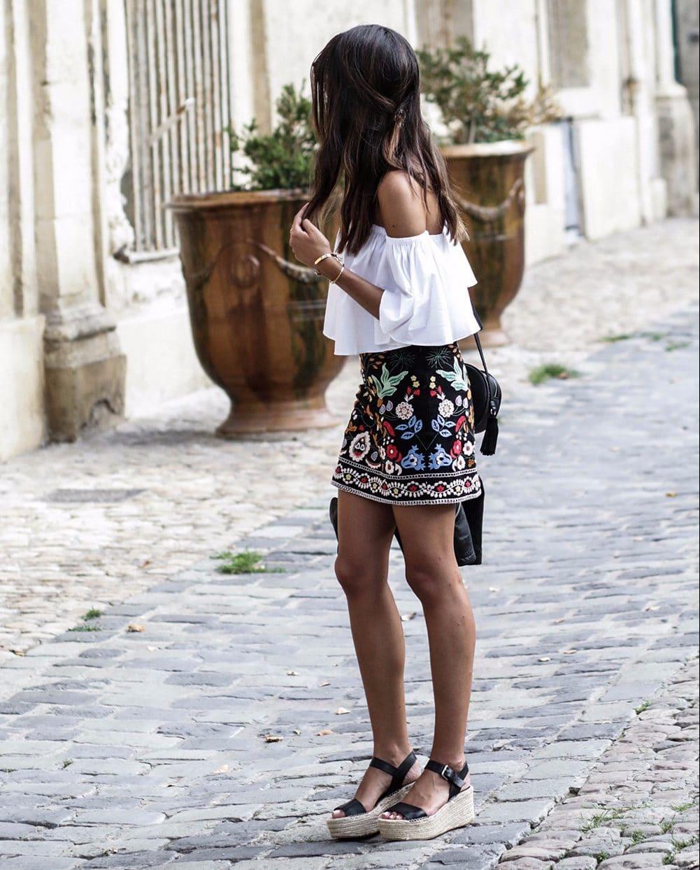 Юбка-мини с вышивкой купить на Алиэкспресс