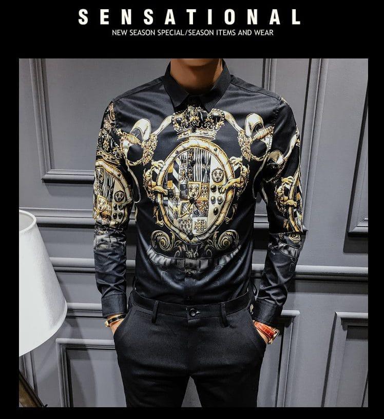 Рубашка в стиле барокко купить на Алиэкспресс