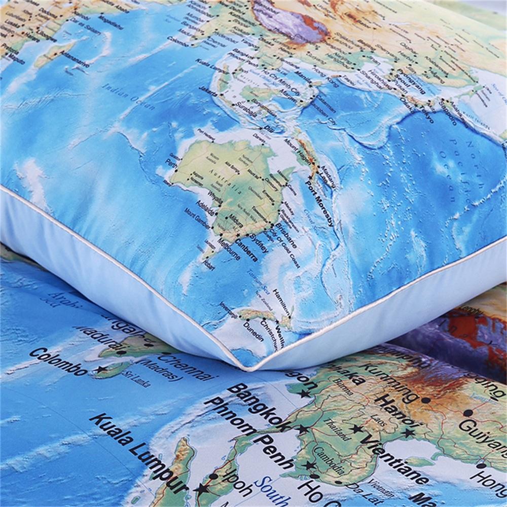 Постельное белье «Карта мира» купить на Алиэкспресс