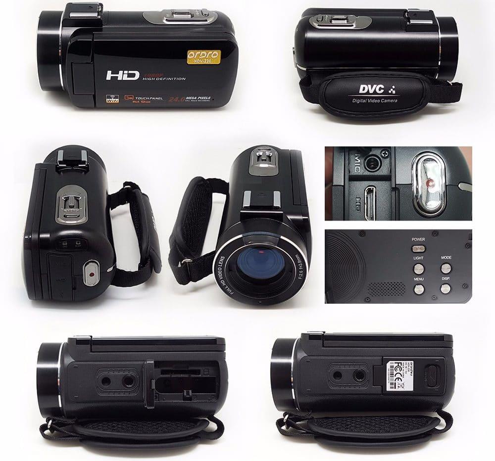 Любительская видеокамера с сенсорным экраном и хорошим микрофоном купить на Алиэкспресс