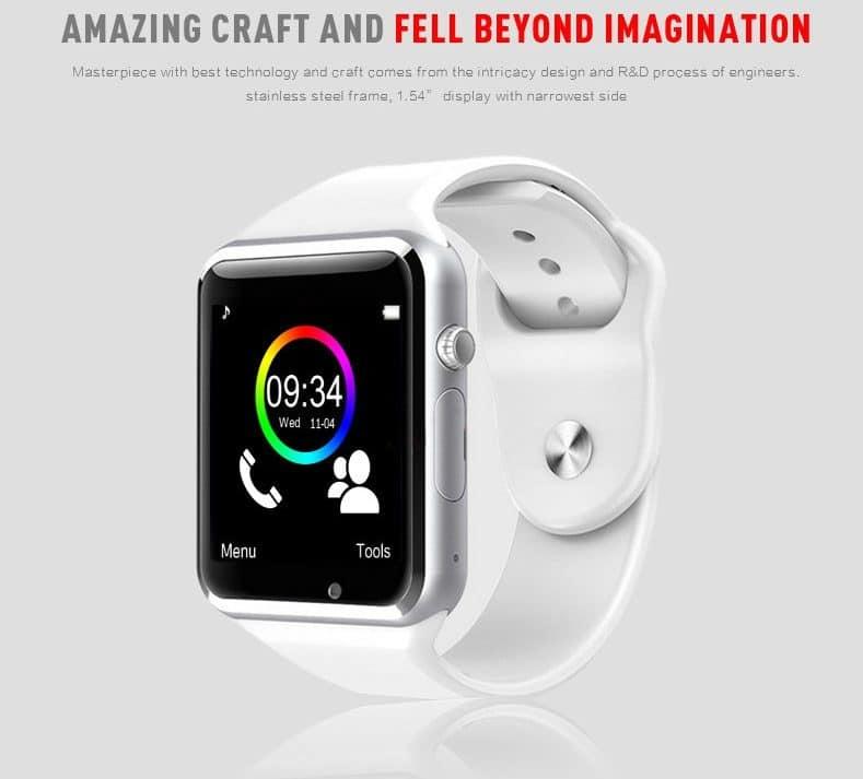 Стильные недорогие умные часы A1 WristWatch купить на Алиэкспресс