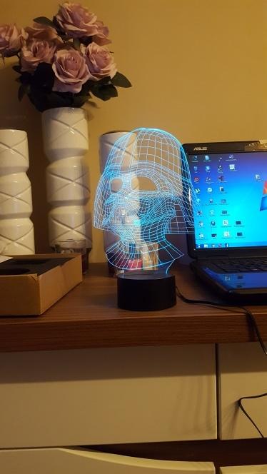 3D светильник«Дарт Вейдер» купить на Алиэкспресс