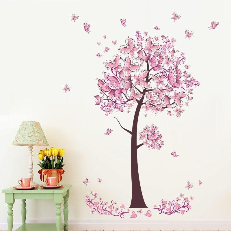 Наклейка на стену «Дерево» купить на Алиэкспресс