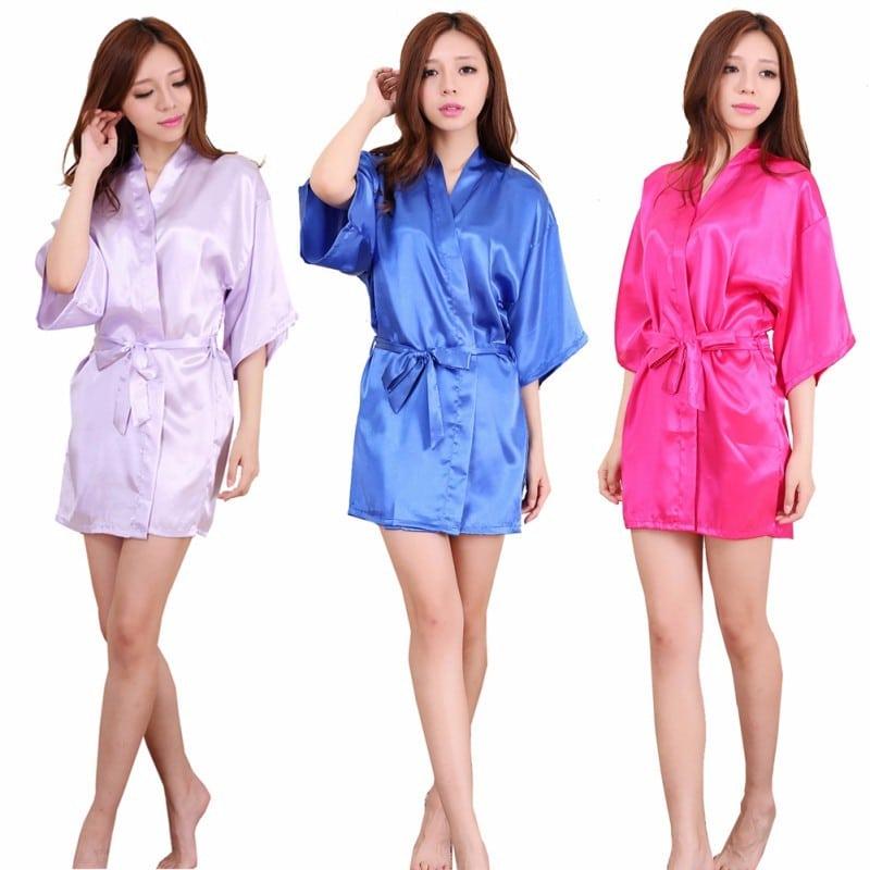 Атласный женский халат купить на Алиэкспресс