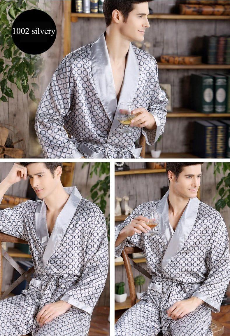Хлопковый мужской халат купить на Алиэкспресс