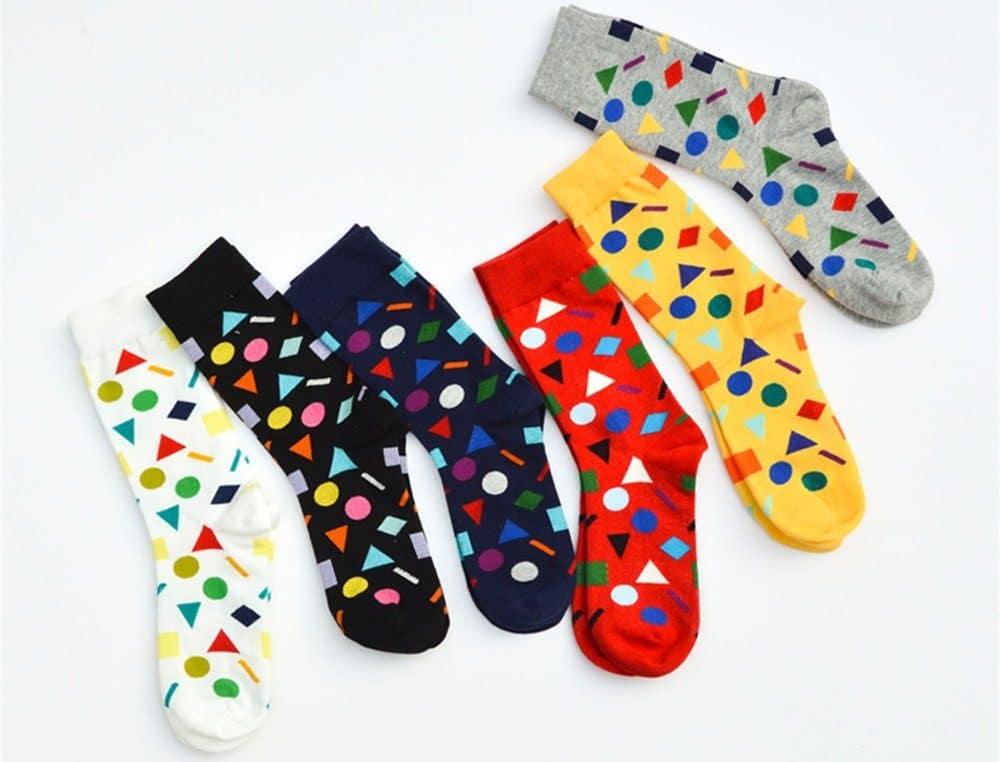 Носки с геометрическими фигурами купить на Алиэкспресс